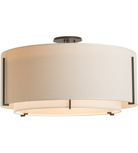 Hubbardton Forge 126505-1618 Exos 3 Light 29 inch Gold Semi-Flush Mount Ceiling Light, Large