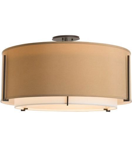 Hubbardton Forge 126505-1542 Exos 3 Light 29 inch Vintage Platinum Semi-Flush Mount Ceiling Light, Large 126505-SKT-07-SF2290-SB2899_2.jpg