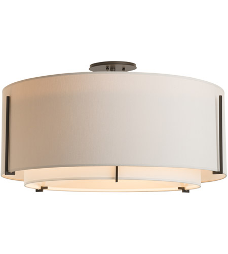 Hubbardton Forge 126505-1542 Exos 3 Light 29 inch Vintage Platinum Semi-Flush Mount Ceiling Light, Large 126505-SKT-07-SF2290-SE2899_3.jpg