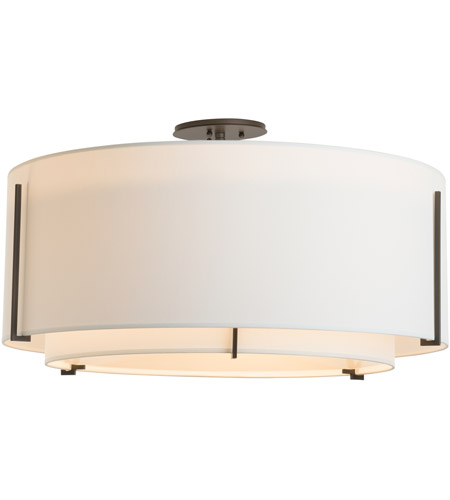 Hubbardton Forge 126505-1542 Exos 3 Light 29 inch Vintage Platinum Semi-Flush Mount Ceiling Light, Large 126505-SKT-07-SF2290-SF2899_4.jpg