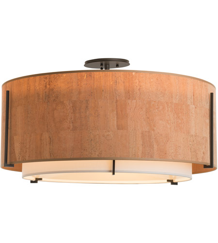 Hubbardton Forge 126505-1542 Exos 3 Light 29 inch Vintage Platinum Semi-Flush Mount Ceiling Light, Large 126505-SKT-07-SF2290-SG2899_5.jpg
