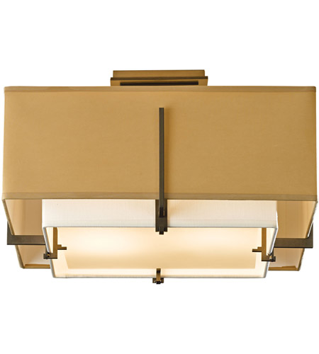 Hubbardton Forge 126507-1313 Exos 2 Light 17 inch Bronze Semi-Flush Mount Ceiling Light, Square Small 126507-SKT-07-SF1205-SB1605_2.jpg