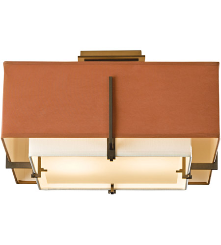 Hubbardton Forge 126507-1327 Exos 2 Light 17 inch Soft Gold Semi-Flush Mount Ceiling Light, Square Small 126507-SKT-07-SF1205-SC1605_3.jpg