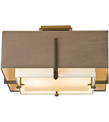 Hubbardton Forge 126507-1313 Exos 2 Light 17 inch Bronze Semi-Flush Mount Ceiling Light, Square Small 126507-SKT-07-SF1205-SD1605_4.jpg