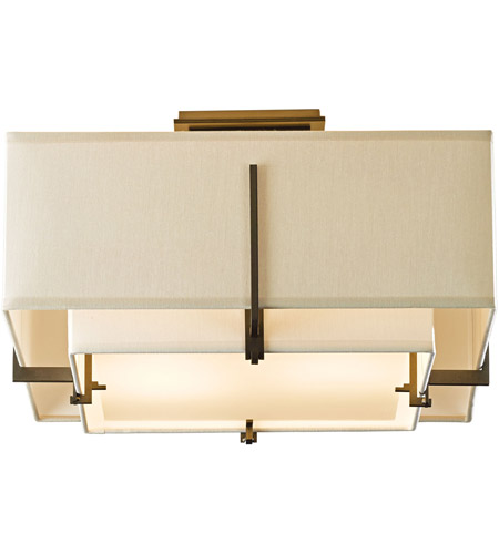 Hubbardton Forge 126507-1327 Exos 2 Light 17 inch Soft Gold Semi-Flush Mount Ceiling Light, Square Small 126507-SKT-07-SF1205-SE1605_6.jpg