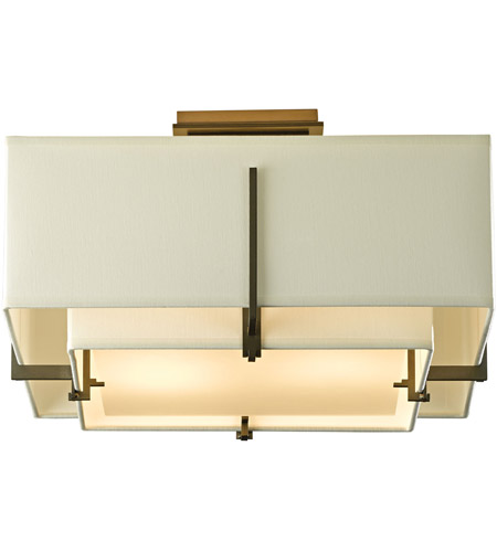 Hubbardton Forge 126507-1327 Exos 2 Light 17 inch Soft Gold Semi-Flush Mount Ceiling Light, Square Small 126507-SKT-07-SF1205-SF1605_5.jpg