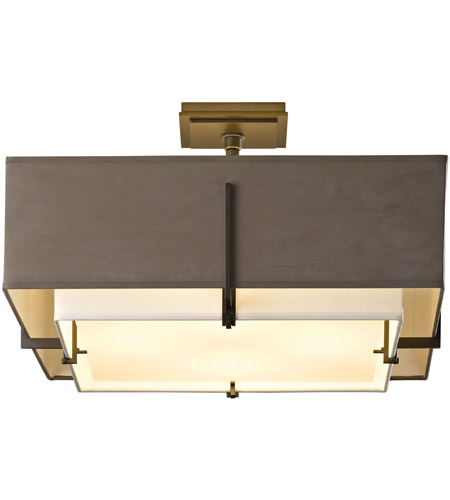 Hubbardton Forge 126510-1200 Exos 4 Light 21 inch Natural Iron Semi-Flushmount Ceiling Light, Square