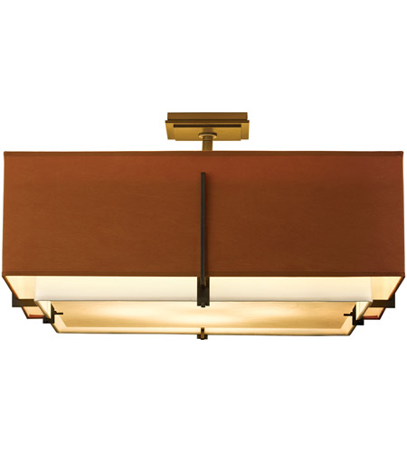 Hubbardton Forge 126513-1466 Exos 4 Light 25 inch Gold Semi-Flush Mount Ceiling Light, Square Large 126513-SKT-07-SF2012-SC2401_4.jpg