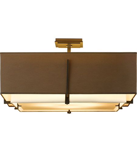 Hubbardton Forge 126513-1466 Exos 4 Light 25 inch Gold Semi-Flush Mount Ceiling Light, Square Large 126513-SKT-07-SF2012-SD2401_3.jpg