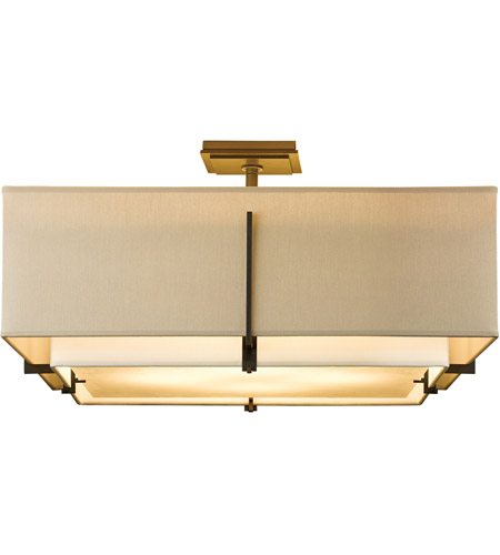 Hubbardton Forge 126513-1466 Exos 4 Light 25 inch Gold Semi-Flush Mount Ceiling Light, Square Large 126513-SKT-07-SF2012-SE2401_2.jpg