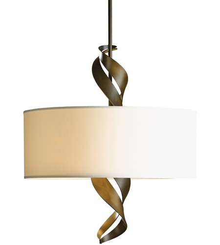 Hubbardton Forge 137685-1165 Folio 3 Light 22 inch Soft Gold Pendant Ceiling Light, Drum Shade photo