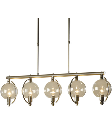 Hubbardton Forge 137805-1023 Pluto 5 Light 9 inch Burnished Steel Pendant Ceiling Light photo thumbnail