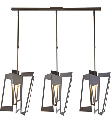 Hubbardton Forge 138905-1010 Triptic 3 Light 7 inch Dark Smoke Pendant Ceiling Light photo thumbnail