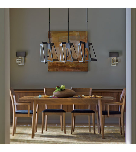 Hubbardton Forge 138905-1010 Triptic 3 Light 7 inch Dark Smoke Pendant Ceiling Light alternative photo thumbnail