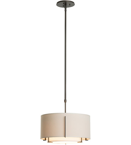 Hubbardton Forge 139602-5040 Exos 1 Light 16 inch Natural Iron Pendant Ceiling Light, Small photo
