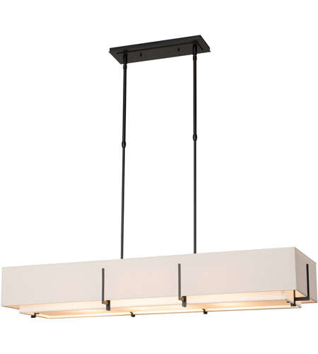 Hubbardton Forge 139640-1926 Exos 4 Light 15 inch Gold Pendant Ceiling Light, Rectangular