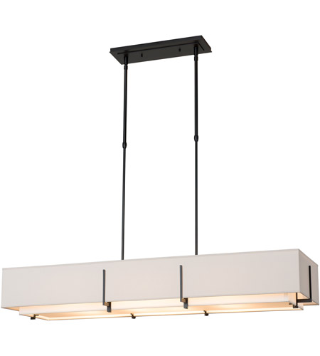 Hubbardton Forge 139640-1943 Exos 4 Light 15 inch Soft Gold Pendant Ceiling Light, Rectangular