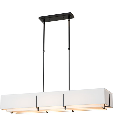 Hubbardton Forge 139640-1843 Exos 4 Light 15 inch Vintage Platinum Pendant Ceiling Light, Rectangular