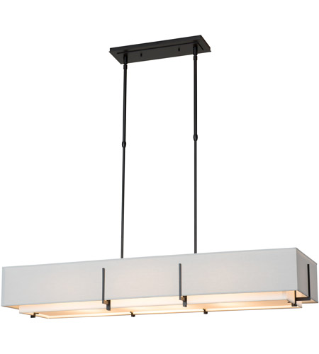 Hubbardton Forge 139640-1959 Exos 4 Light 15 inch Natural Iron Pendant Ceiling Light, Rectangular