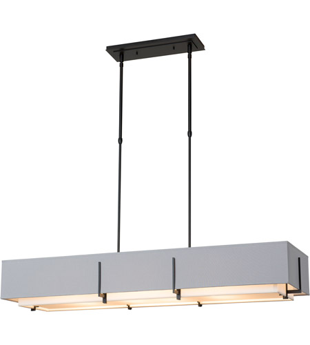 Hubbardton Forge 139640-1909 Exos 4 Light 15 inch Mahogany Pendant Ceiling Light, Rectangular