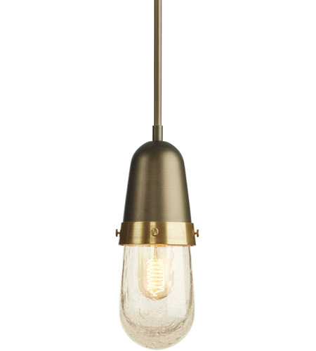 Hubbardton Forge 187000-1003 Fizz 1 Light 4 inch Bronze with Brass Accent Mini Pendant Ceiling Light