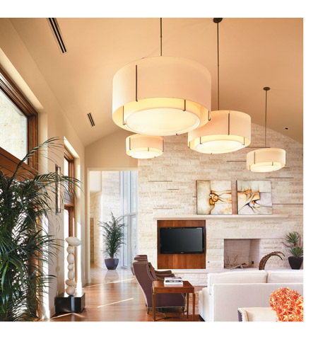 Hubbardton Forge 194630-1373 Exos 3 Light 31 inch Dark Smoke Pendant Ceiling Light, Large 194630-SKT-07-SF2499-SF3099_2.jpg