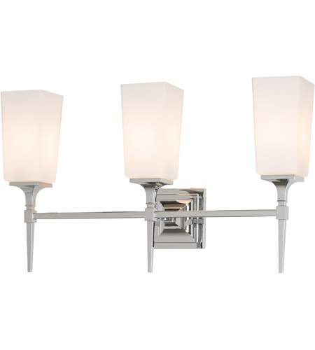 Hubbardton Forge 202115 1000 Bunker Hill 3 Light Polished Chrome Sconce Wall