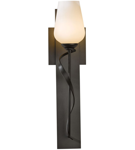 Hubbardton Forge 203030-1013 Flora 1 Light 5 inch Burnished Steel Sconce Wall Light in Stone 203030-SKT-07-ZX0303_2.jpg