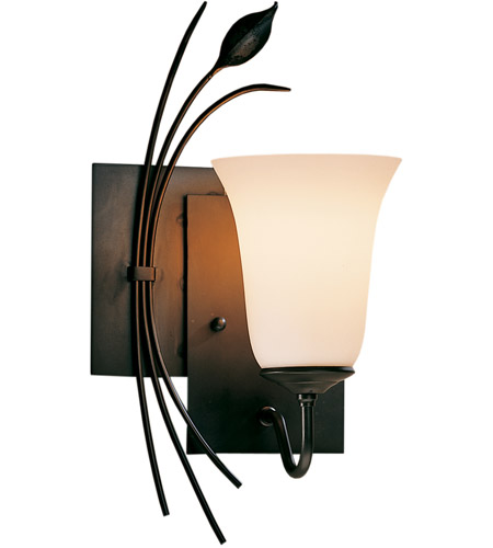 Hubbardton Forge 205122-1040 Forged Leaf 1 Light 7 inch Natural Iron Sconce Wall Light in Stone, Right