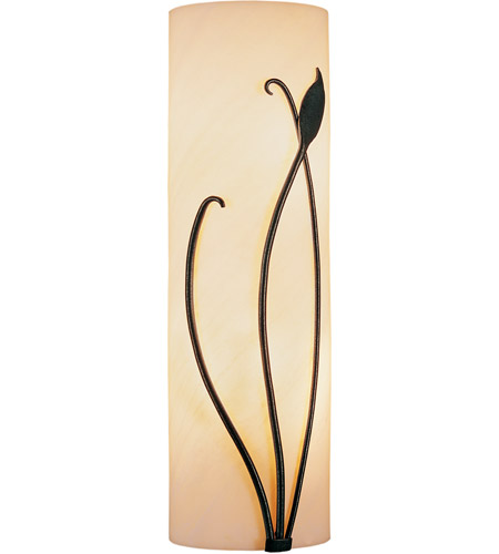 Hubbardton Forge 205772-1010 Forged Leaf and Stem LED 5 inch Dark Smoke ADA Sconce Wall Light