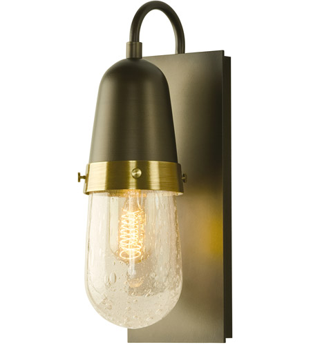 Hubbardton Forge 207470-1007 Fizz 1 Light 5 inch Soft Gold with Brass Accent Sconce Wall Light