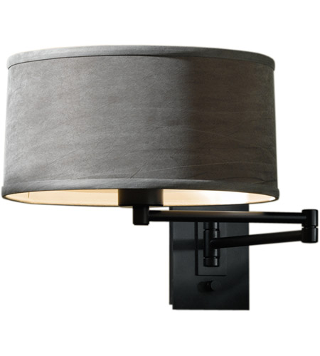 Hubbardton Forge 209250 1021 Simple 23 Inch 100 Watt Black Swing Arm Sconce Wall Light