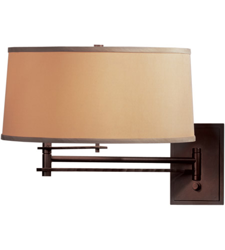 Hubbardton Forge 209301-1012 Forged Bar 30 inch 150 watt Burnished Steel Swing Arm Sconce Wall Light