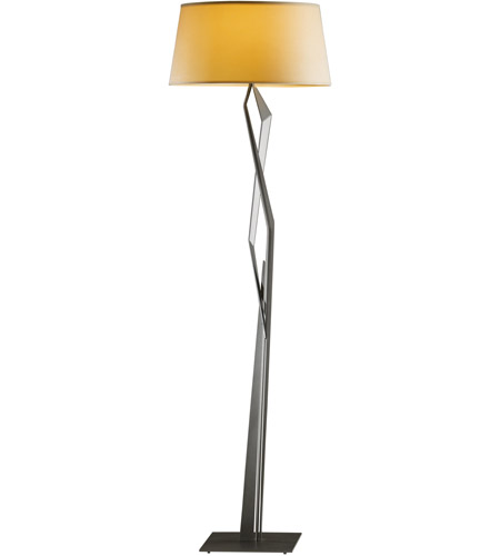 Hubbardton Forge 232850-1001 Facet 100 watt Mahogany Floor Lamp Portable Light