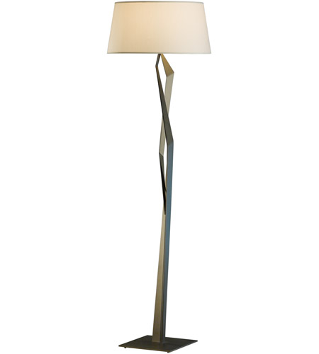 Hubbardton Forge 232850-1101 Facet 66 inch 100 watt Natural Iron Floor Lamp Portable Light