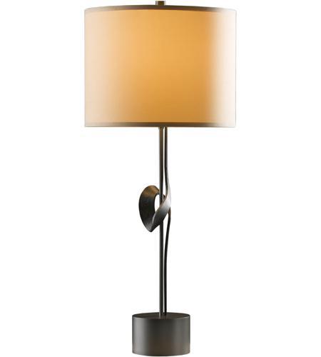 Hubbardton Forge 272820 1019 Gallery 100 Watt Burnished Steel Table Lamp  Portable Light, Single