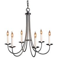 Hubbardton Forge 101160-1005 Simple Sweep 6 Light 26 inch Natural Iron Chandelier Ceiling Light