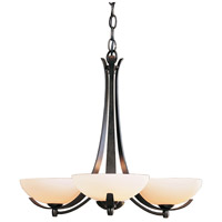 Hubbardton Forge 101260-1006 Aegis 3 Light 22 inch Dark Smoke Chandelier Ceiling Light