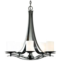 Hubbardton Forge 101281-1009 Berceau 5 Light 25 inch Burnished Steel Chandelier Ceiling Light