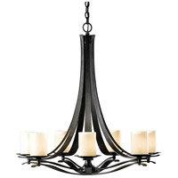 Hubbardton Forge 101283-1007 Berceau 7 Light 32 inch Dark Smoke Chandelier Ceiling Light