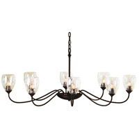 Hubbardton Forge 101309-1000 Oval 8 Light 28 inch Mahogany Chandelier Ceiling Light Large