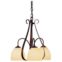 Hubbardton Forge 101441-1005 Sweeping Taper 3 Light 18 inch Bronze Chandelier Ceiling Light