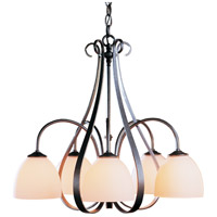 Hubbardton Forge 101445-1015 Sweeping Taper 5 Light 24 inch Natural Iron Chandelier Ceiling Light