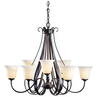 Hubbardton Forge 101459-1006 Sweeping Taper 9 Light 32 inch Dark Smoke Chandelier Ceiling Light