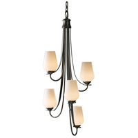 Hubbardton Forge 103035-1011 Flora 5 Light 16 inch Dark Smoke Chandelier Ceiling Light
