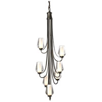 Hubbardton Forge 103037-1006 Flora 7 Light 19 inch Bronze Chandelier Ceiling Light