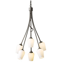 Hubbardton Forge 103043-1004 Flora 6 Light 23 inch Bronze Chandelier Ceiling Light thumb
