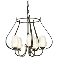 Hubbardton Forge 103045-1010 Flora 5 Light 22 inch Dark Smoke Chandelier Ceiling Light