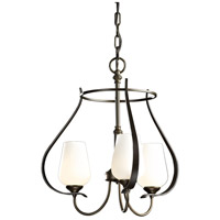 Hubbardton Forge 103047-1022 Flora 3 Light 19 inch Natural Iron Chandelier Ceiling Light thumb