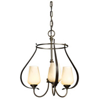 Hubbardton Forge 103047-1005 Flora 3 Light 19 inch Bronze Chandelier Ceiling Light
